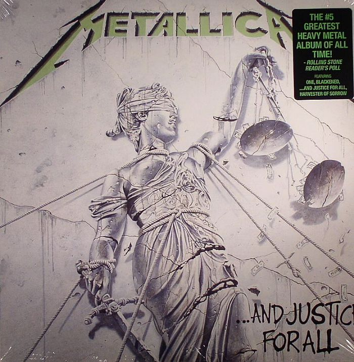 metallica and justice for all vinyl lp bkn007. Black Bedroom Furniture Sets. Home Design Ideas