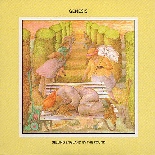 Αποτέλεσμα εικόνας για SELLING ENGLAND BY THE POUND-Genesis vinyl cover