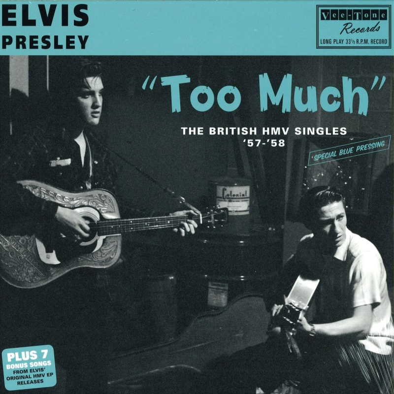 Elvis Presley - Too Much The British HMV Singles - Cyan Version Vinyl LP VTRLP2040C