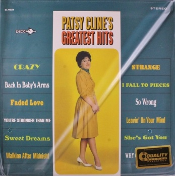 Patsy Cline - Greatest Hits - 200g Vinyl LP (APP 74854)