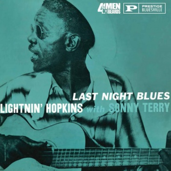 Lightnin' Hopkins with Sonny Terry Last Night Blues Vinyl LP - 4M248