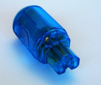 MS HD Power MS-9315GK  'The Blue' Gold plated IEC Plug