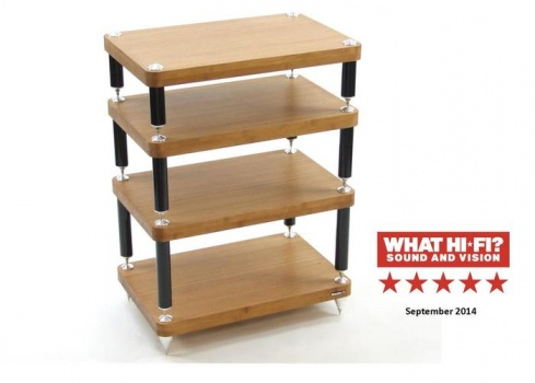 Atacama Evoque Eco 60-40 Medium Bamboo 5 Shelf Equipment Stand