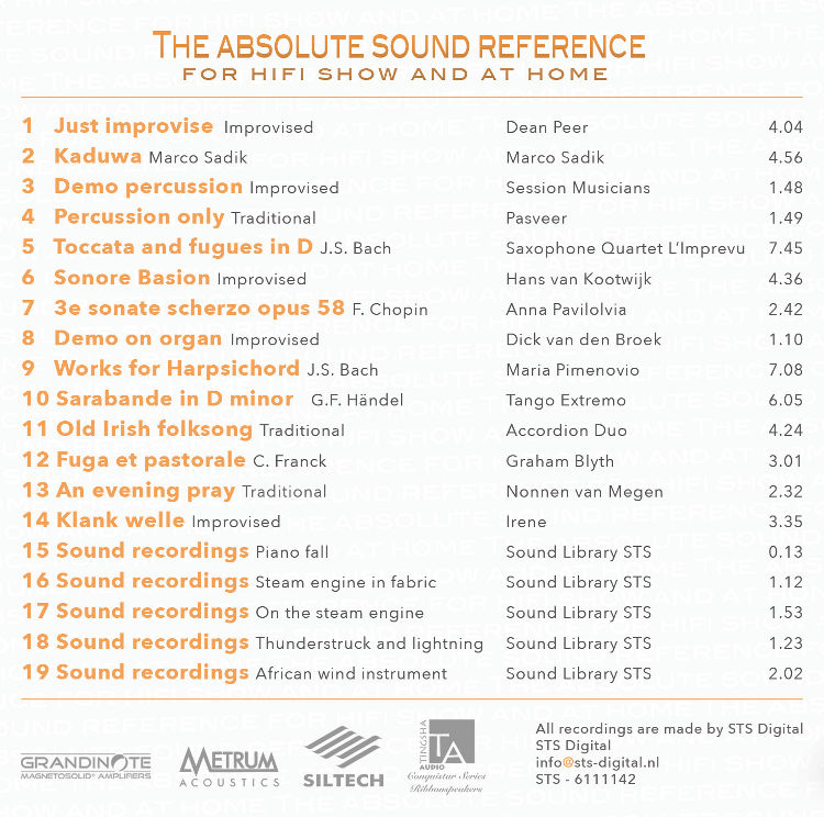 sts digital the absolute sound reference cd volume 1 sts 61111142 ebay. Black Bedroom Furniture Sets. Home Design Ideas