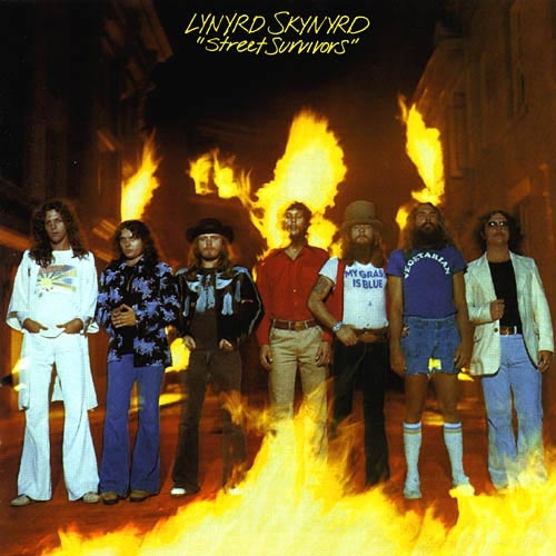 Lynyrd Skynyrd Street Survivors Album Value With Flames