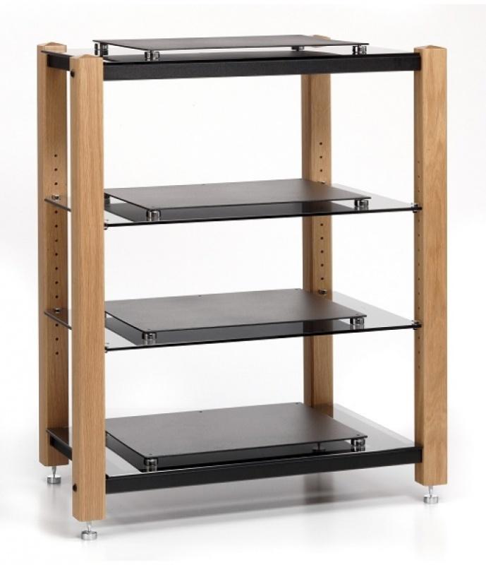 custom design icon signature acoustic 4 shelf hifi equipment stand. Black Bedroom Furniture Sets. Home Design Ideas