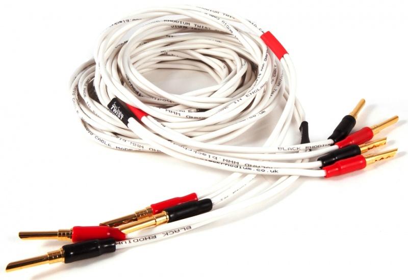 black rhodium twist speaker cable terminated. Black Bedroom Furniture Sets. Home Design Ideas