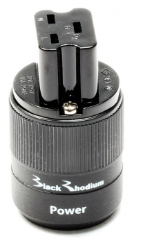 Black Rhodium C19 High Current IEC Connector - Rhodium Plated