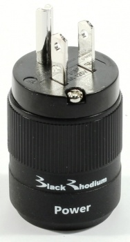 Black Rhodium USA Mains Plug - Rhodium Plated