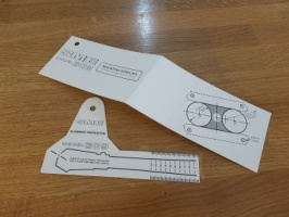 SME 309 Alignment Protractor with Arm Mounting Template