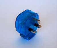 MS HD Power MS-328SK 'The Blue' Silver 13A Mains Plug