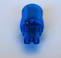 MS HD Power MS-9315SK 'The Blue' Silver plated IEC Plug