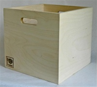 Music Box Design Vinyl LP Storage Box - Birch Plywood