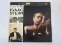 Bartok Concerto For Violin - Isaac Stern - New York Philharmonic, Leonard Bernstein Vinyl LP Columbia MS6002