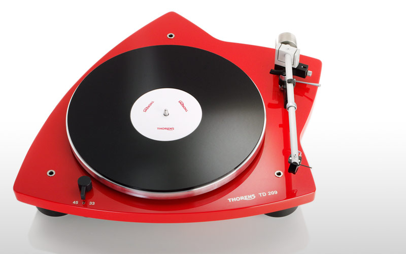 Thorens TD 209 Turntable - Gloss Red - Summer Sale!