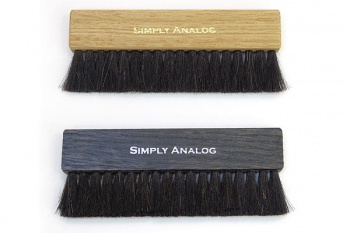 Simply Analog Oak Wood Record Cleaning Brush