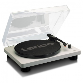 Lenco LS-50 Turntable With Integrated Speakers- Grey Finish- Reduced to clear