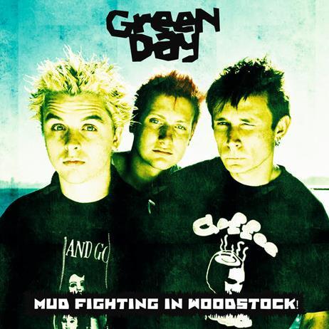 Green Day Mud Fighting In Woodstock Vinyl Lp Wlvr013