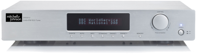mitchell johnson dr201v stereo fm dab tuner with bluetooth. Black Bedroom Furniture Sets. Home Design Ideas
