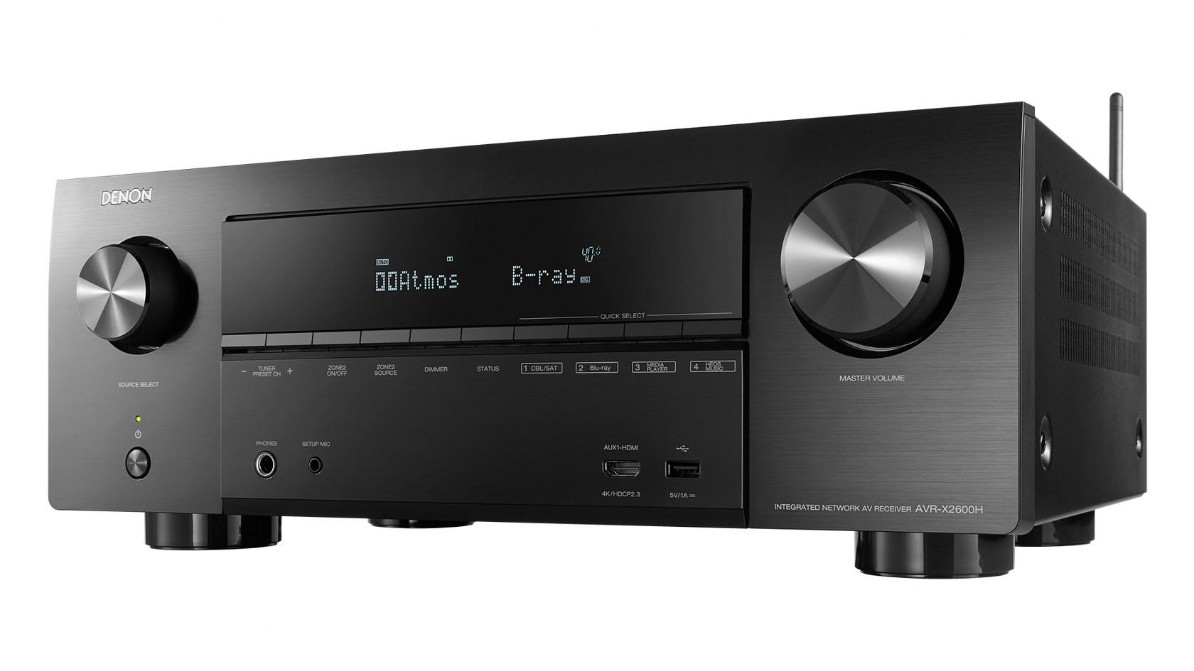 Denon AVR-X2600H 7 2 Channel 4K HD AV Receiver