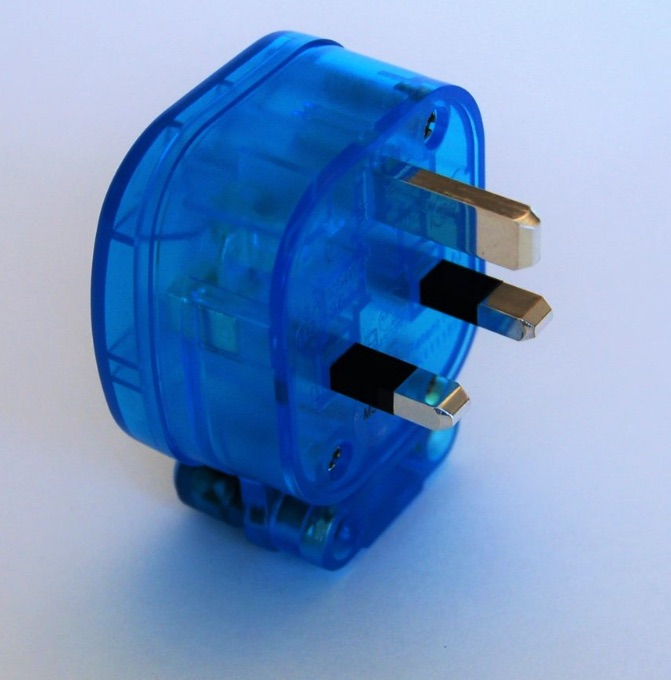 MS HD Power MS328RK 'The Blue' Rhodium 13A UK mains plug