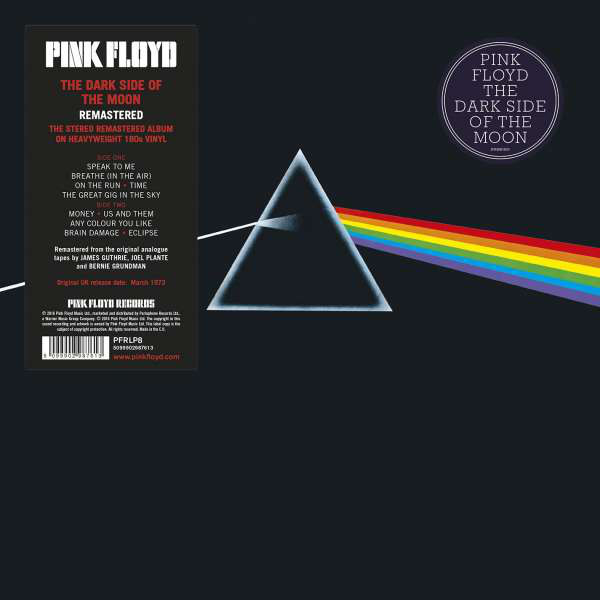 Pink Floyd - Dark Side Of The Moon Vinyl LP Stereo PFRLP8