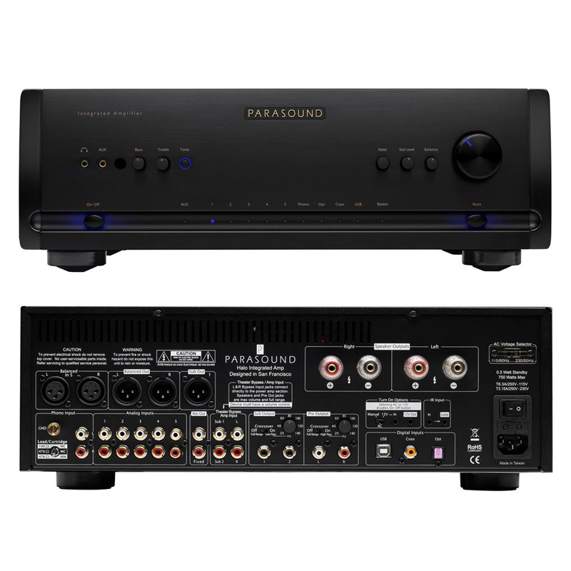 parasound halo integrated 2 1 channel amplifier with dac. Black Bedroom Furniture Sets. Home Design Ideas