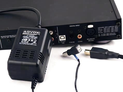 AQVOX USB Low-Noise Linear Power Supply Type-B Male to Female
