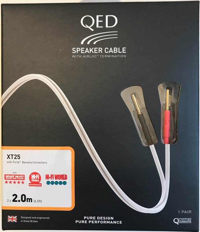 qed reference xt25 speaker cable factory terminated pair. Black Bedroom Furniture Sets. Home Design Ideas