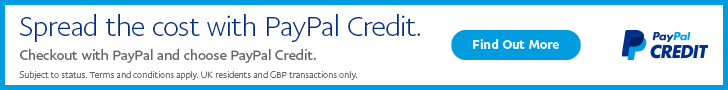 PayPal Credit available on purchases over £150