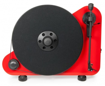 Pro-Ject VTE DC Vertical Wall Mountable Turntable - Ex Demonstration (Red)