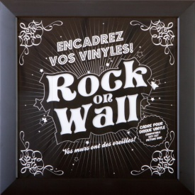 Rock on Wall Vinyl Record LP Sleeve Frame
