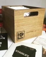 65 Oiled Oak Musicbox Designs LP Storage Box