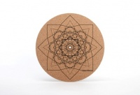 Simply Analog Cork Turntable Platter Mat (Geo Printed)