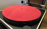 Analogue Studio Leather Turntable Platter Mat (Red)