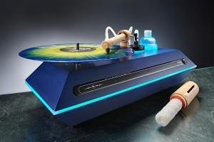 Keith Monks Prodigy Vinyl Record-CD-DVD Cleaning Machine- Bamboo Blue Edition