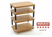 Atacama Evoque Eco 60-40 Medium Bamboo 4 Shelf Equipment Stand