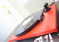 Pro-Ject Primary Phono USB DC Turntable -  (RED) With Ortofon OM5e Fitted - Reduced in price