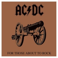 AC/DC Framed Canvas Print For Those About to Rock 40 x 40 cm
