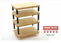 Atacama Evoque Eco 60-40 Natural Bamboo 4 Shelf Equipment Stand