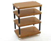 Atacama Evoque Eco 60-40 Dark Bamboo 4 Shelf Equipment Stand