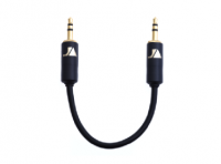 Just Audio Black&Gold 3.5mm Stereo Jack Interconnects